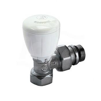 R421TG Valvola micrometrica termostatizzabile, a squadra, in ottone, cromata, con attacco tubo ferro GIMR421X035