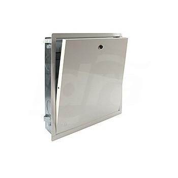 R500 Cassetta metallica da incasso, in lamiera elettrozincata, con portello e telaio in lamiera verniciata R500Y101 - Collett...