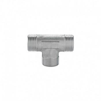 Raccordi tee M/M/M in ottone nichelato con filettatura maschio ISO 228 G EURA03-0001-01560