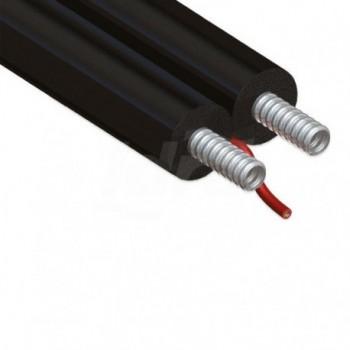 La linea TWIN-SOLAR-SET è composta da tubazioni corrugate formabili CSST in acciaio inossidabile EURA01-0001-01451