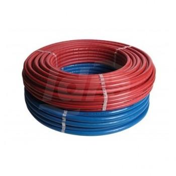 ISO9 tubo multistrato rivestimento rosso ø32x3mm rotolo 25m 25-ISO9-32-RO - Multistrato