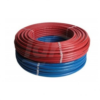 Tubo multistrato in rotolo da 50 mt misura 16x2 RIXc (PE-Xc / AL / PE-Xc) con isolamento spessore 6 mm, in rotoli con guaina ...