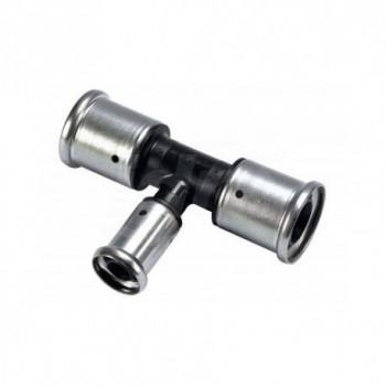 10PK RACCORDO TEE RID. ø40x16x40mm PVDF PRESS. 10PK-401640 - A pressare per multistrato
