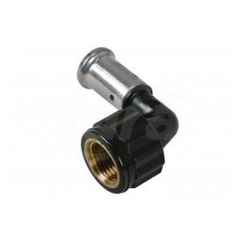 """6PK gomito 90° femmina ø16x1/2""""F PVDF press. 6PK-1604 - A pressare per multistrato"""