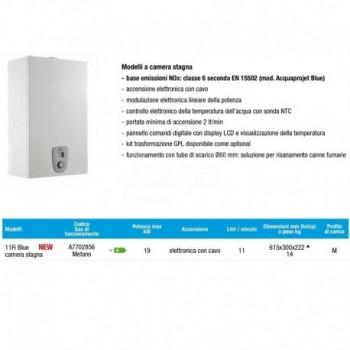 Scaldacqua istantaneo a gas Acquaprojet+ 11 Fi Blue BAXA7702856