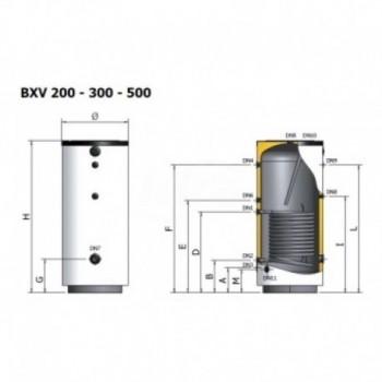 Bxv-300 Bollitore Inox 300Lt+Serp.Fisso ELBA3X0L51 PGP40