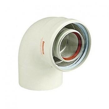Kit Curva 90° Scarico Fumi Coassiale 60/100 per caldaie convenzionali Immergas 3.010949 - Scarichi fumi x caldaie