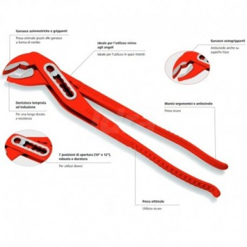 Pinza Rossa Tipo Sp L.250Mm ROT70528