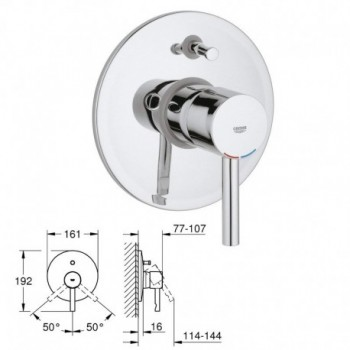 ESSENCE parte esterna Miscelatore rubinetto monocomando ad incasso per Vasca/Doccia, Parte Esterna, Cromo 19285000 - Gruppi p...
