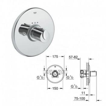 Grohtherm 1000 Miscelatore rubinetto termostatico centrale 34160000 - Gruppi per docce