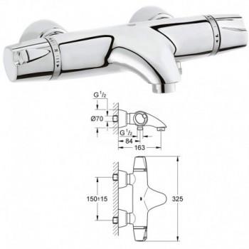G3000 Miscelatore rubinetto per vasca da Bagno / doccia Termostatico 34185000