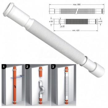 MAGIKONE tubo flessibile ed estensibile, attacco bicchierato BON9380FM50B0