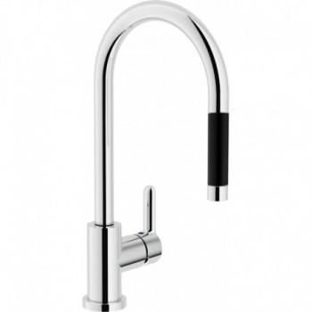 ABC Miscelatore rubinetto monocomando lavello + Doccetta estraibile 1G cr AB87137/1CR