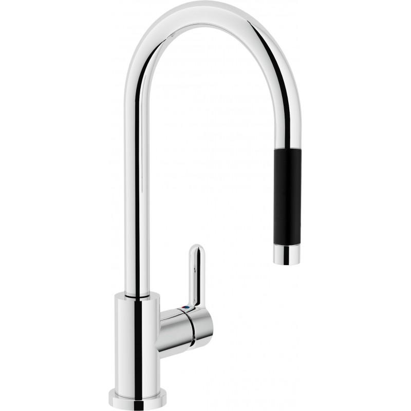 ABC Miscelatore rubinetto monocomando lavello + Doccetta estraibile 1G cr AB87137/1CR - Per lavelli