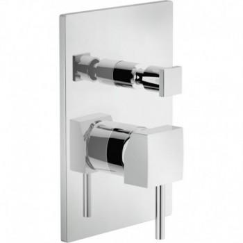 Miscelatore rubinetto monocomando doccia incasso con deviazione CUBE crOMO CB00500CR