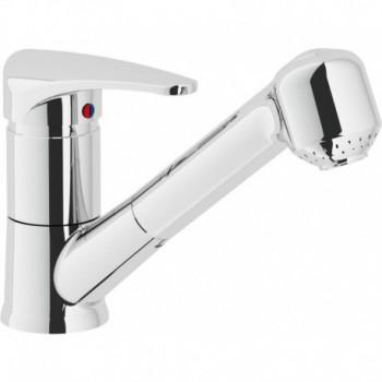 DISCO Miscelatore rubinetto monocomando lavello + Doccetta estraibile 2G cr DI25117CR - Per lavelli