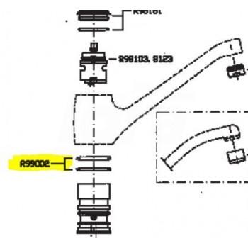 R99002 Ricambio guarnizioni Gaco lavabo bocca girevole Zucchetti R99002 - Accessori