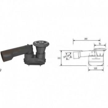 Piletta sifone ad incasso per piatto doccia ø80x50/40 + griglia inox F03SD810I