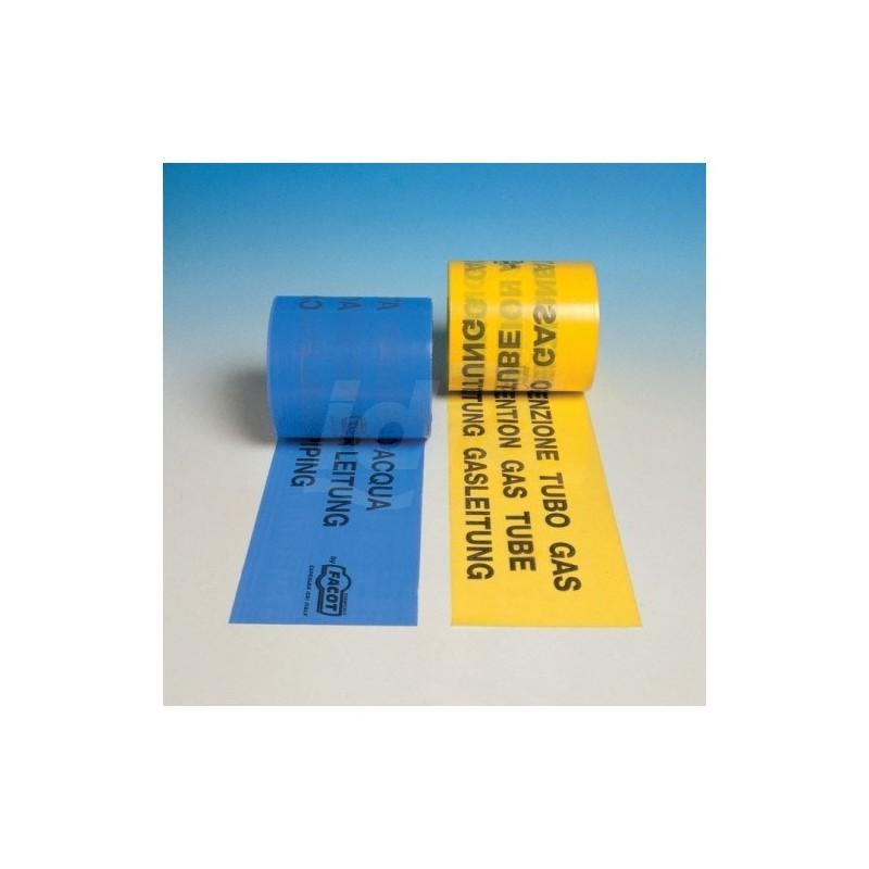 Nastri di segnalazione di tubazioni interrate TUBO ACQUA H.120mmx200m FACACQUAEC0120N