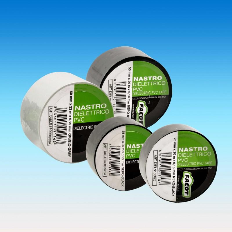 NASTRO dielettrico PVC nero H.25x0,15mmx20m FACDIELN150025