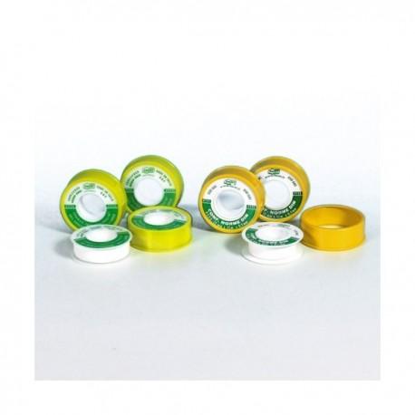 TEFLON Nastro in PTFE puro, non sinterizzato, di spessore costante 0,1 mm H.25x12mx0,1mm per gas FACTEFDIN2512F