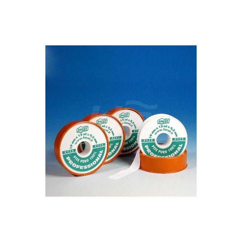 TEFLON PROFESSIONAL Nastro in PTFE di qualità, puro spessore costante 0,2 mm H.12x12mx0,2 FACTEFPRO1212F