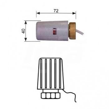 Attuatore elettrotermico per collettore normalmente chiuso con attacco M30x1,5 20318001 - Componenti per impianti