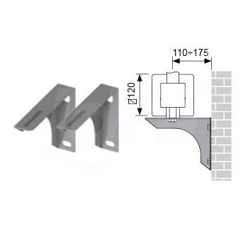 Coppia Mensole Muro per Coll. + Viti Tipo Delta 49018071 - Componenti per impianti