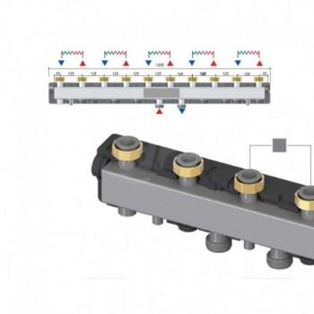 Dn25C70/5F Collettore a 5 Zone Flangiato 49070904 - Componenti per impianti