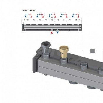 Dn32C90/5R Collettore a 5 Zone LOV49043704