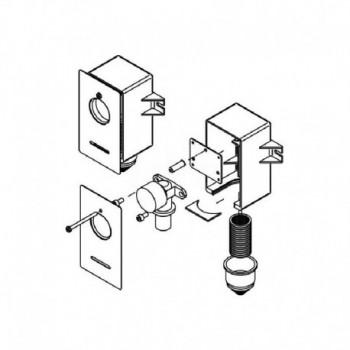 Cassetta per terminale a 90° RAUTITAN gas REH11670031001