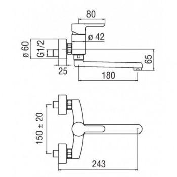 ABC Miscelatore rubinetto monocomando lavello PAR. cr AB87115CR - Per lavelli