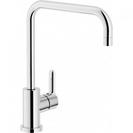 ABC Miscelatore rubinetto monocomando lavello CANNA U GIR. cr AB87134CR