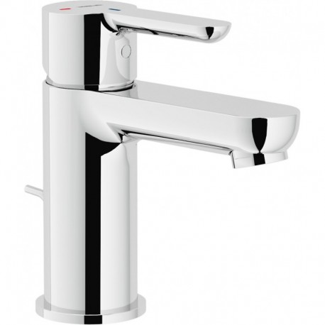 ABC Miscelatore rubinetto monocomando lavabo ECO con scarico cr ABE87118/1CR - Per lavabi