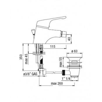 HERA miscelatore monocomando bidet cr NOBHE24119/1CR