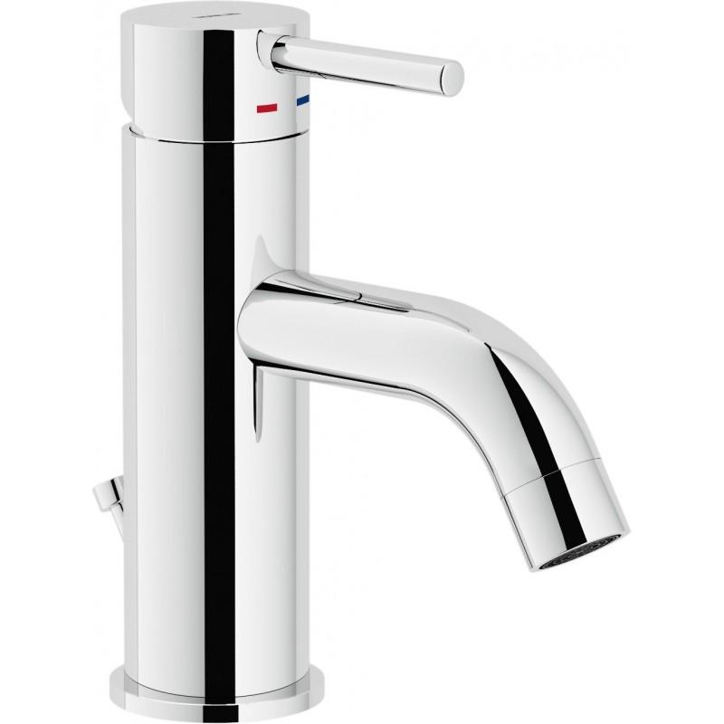 """LIVE miscelatore monocomando lavabo scarico ø1.1/4"""" cr NOBLV00118/1CR"""