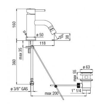 LIVE miscelatore monocomando bidet cr NOBLV00119/1CR