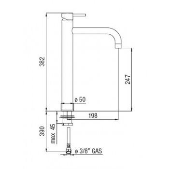 LIVE miscelatore monocomando lavabo a bacinella cr NOBLV00128CR