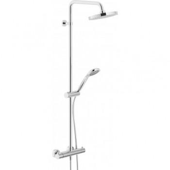 TAGO Colonna doccia termostatica esterno + Soffione ø200mm cr NOBTG85330/30CR
