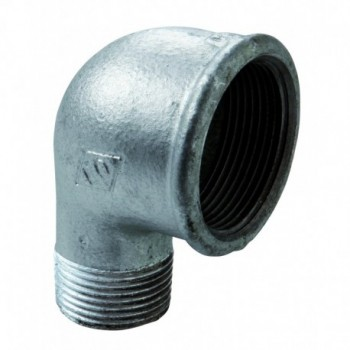 "92R gomito m/f ø3/4""x1/2"" ghisa zincata eo 09205043 - In ghisa malleabile zincati"