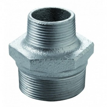 """245 nipple di riduzione m/m ø3/4""""x3/8"""" ghisa zincata eo 24505042 - In ghisa malleabile zincati"""