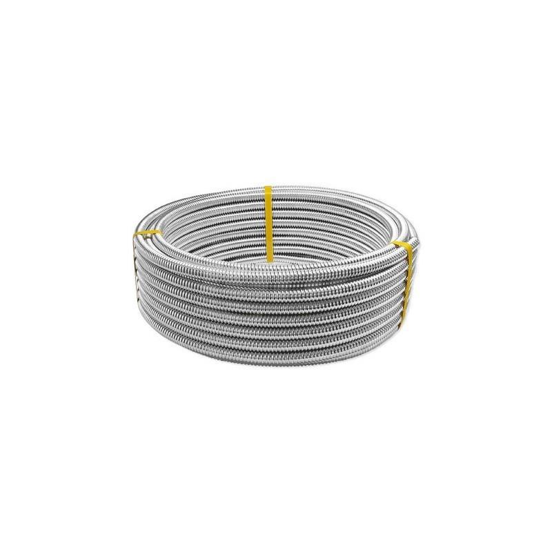 Tubi corrugati formabili CSST in acciaio inossidabile AISI 304 per la distribizione di acqua calda e fredda sanitaria, confor...