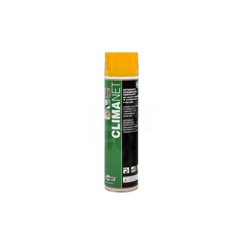 CLIMANET Detergente schiumogeno sanificante per batterie lamellari di condizionatori e fan-coil a bassa residualità. 600ml FACCLINET0600