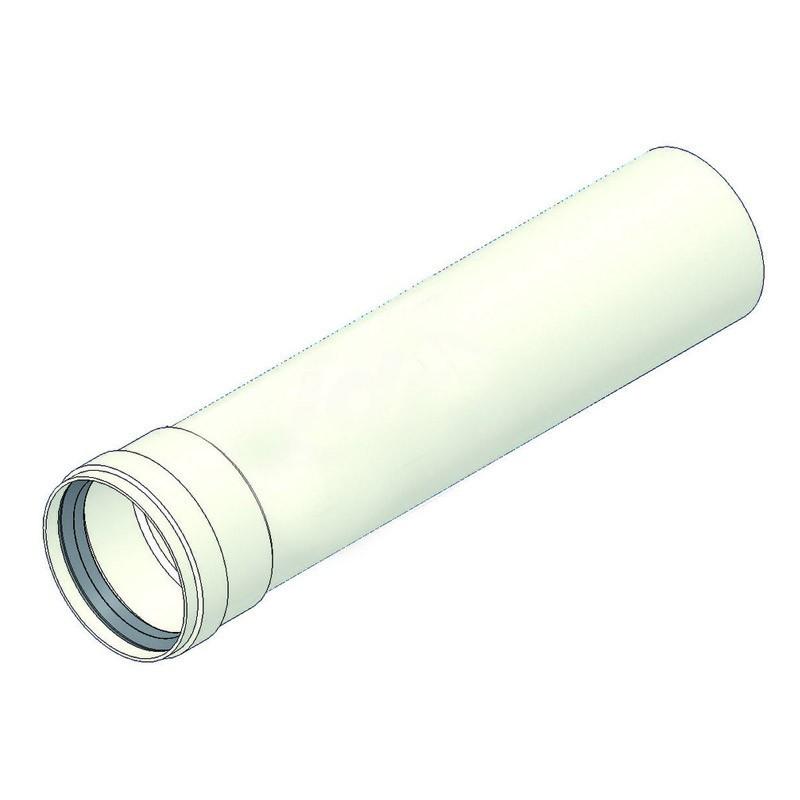 Prolunga alluminio L.500 d=80 mf con guarnizione TCG00000051002