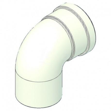 Curva alluminio 90° mf d=80 con guarnizione a norma CE TCG00000051003