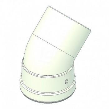 Curva alluminio 45° mf d=80 con guarnizione a norma CE TCG00000051012
