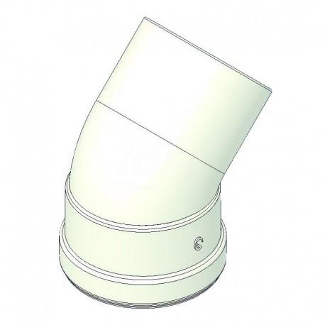 Curva alluminio 45° mf d 80 con guarnizione a norma CE 00000051012 - Scarichi fumi x caldaie