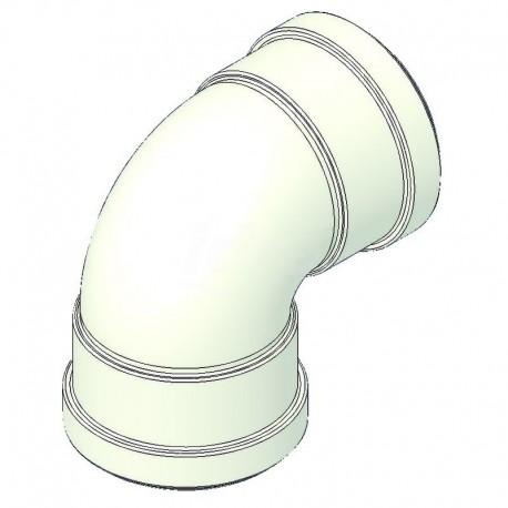 Curva alluminio 90° ff d=80 con guarnizione TCG00000051045