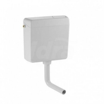 Cassetta per installazione esterna a bassa posizione con tasto STOP per l' interruzione del risciacquo integrato nel coperchi...