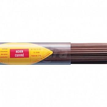 73350 Bacchetta in ferro ricotto rivestita da una sottile lamina di rame che evita l'ossidazione superficiale e migliora le caratteristiche saldanti. FIT7335030I